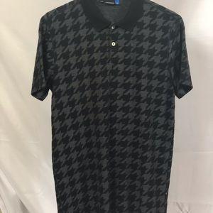 J. Lindeberg golf polo shirt houndstooth L